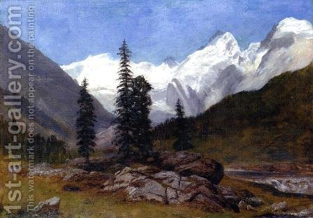 Rocky Mountain by Albert Bierstadt - Reproduction Oil Painting