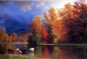 Reproduction oil paintings - Albert Bierstadt - On The Saco