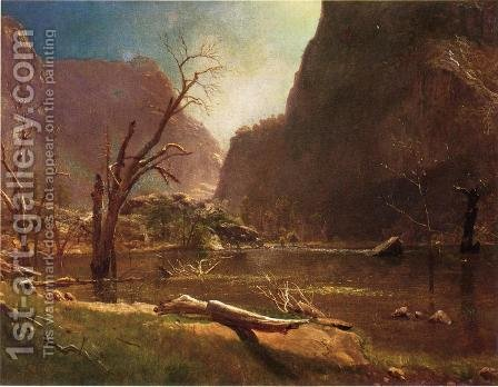 Hatch Hatchy Valley  California by Albert Bierstadt - Reproduction Oil Painting