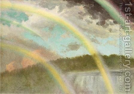 Four Rainbows Over Niagara Falls by Albert Bierstadt - Reproduction Oil Painting