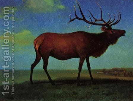 Elk by Albert Bierstadt - Reproduction Oil Painting