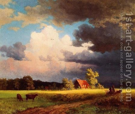 Albert Bierstadt: Bavarian Landscape - reproduction oil painting