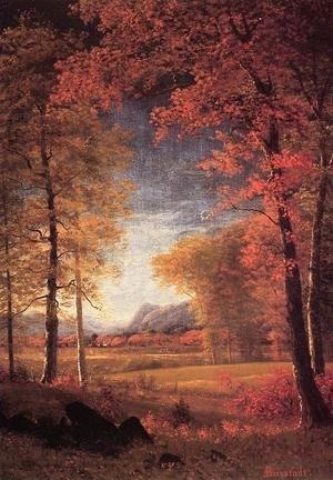 Reproduction oil paintings - Albert Bierstadt - Autumn In America  Oneida County  New York