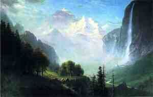 Reproduction oil paintings - Albert Bierstadt - Staubbach Falls  Near Lauterbrunnen  Switzerland
