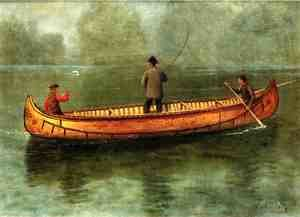Fishing From A Canoe