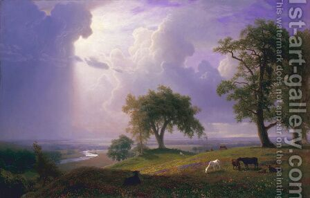 California Spring by Albert Bierstadt - Reproduction Oil Painting