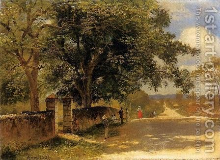 Street In Nassau by Albert Bierstadt - Reproduction Oil Painting