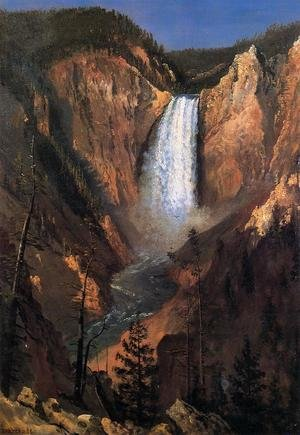 Reproduction oil paintings - Albert Bierstadt - Lower Yellowstone Falls