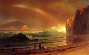 Reproduction oil paintings - Albert Bierstadt - The Golden Gate