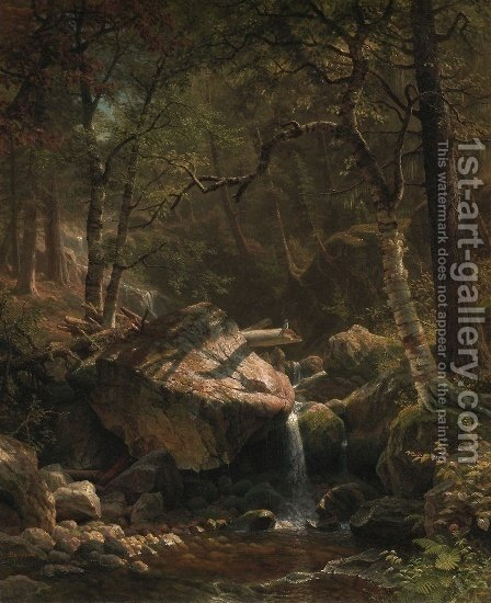 The Mountain Brook by Albert Bierstadt - Reproduction Oil Painting