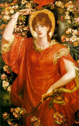 Pre-Raphaelites painting reproductions: A Vision of Fiammetta 1878