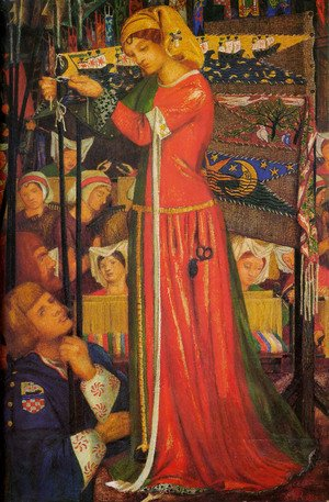Pre-Raphaelites painting reproductions: Before The Battle