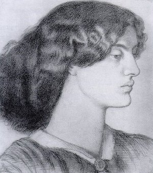 Pre-Raphaelites painting reproductions: Portrait Of Jane Morris