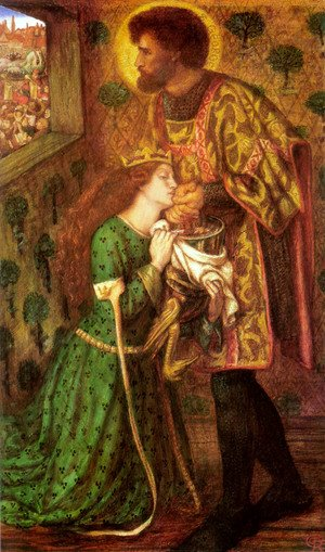 Pre-Raphaelites painting reproductions: Saint George And The Princess Sabra