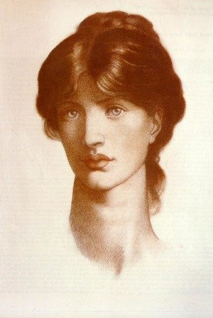 Pre-Raphaelites painting reproductions: Study For A Vision Of Fiammetta