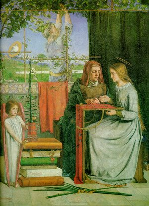 Pre-Raphaelites painting reproductions: The Childhood Of Mary Virgin