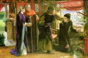 Pre-Raphaelites painting reproductions: The First Anniversary of the Death of Beatrice 1853-54