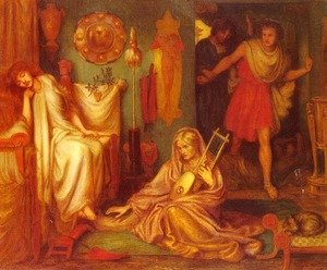 Pre-Raphaelites painting reproductions: The Return Of Tibullus To Delia2