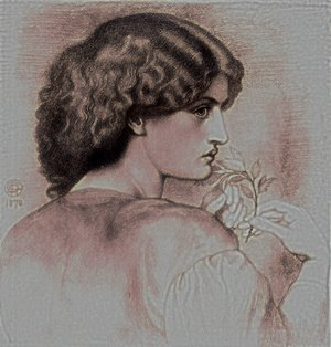 Pre-Raphaelites painting reproductions: The Roseleaf