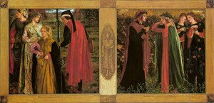 Pre-Raphaelites painting reproductions: The Salutation Of Beatrice