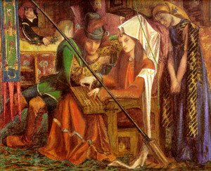 Pre-Raphaelites painting reproductions: The Tune Of The Seven Towers 1857
