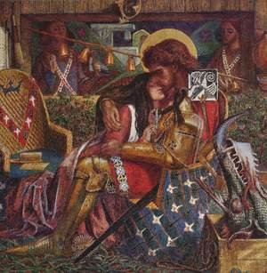 Pre-Raphaelites painting reproductions: The Wedding Of Saint George And The Princess Sabra