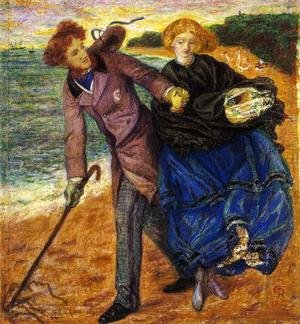 Pre-Raphaelites painting reproductions: Writing On The Sand