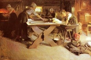 Anders Zorn reproductions - Brodbaket