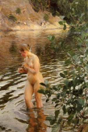Reproduction oil paintings - Anders Zorn - Frileuse