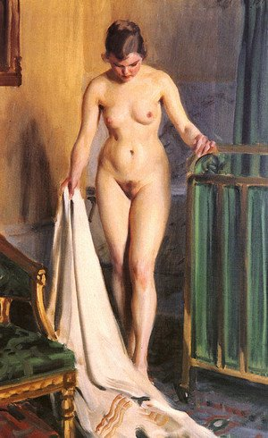 Reproduction oil paintings - Anders Zorn - I Sangkammaren