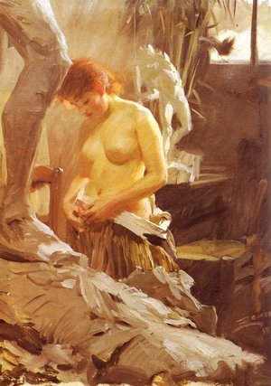 Reproduction oil paintings - Anders Zorn - I Wikstroms Atelje