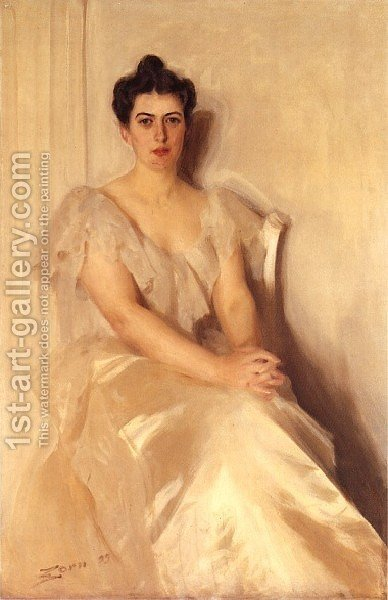 Mrs Frances Cleveland by Anders Zorn - Reproduction Oil Painting