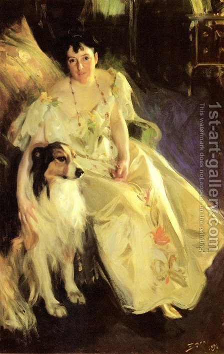 Mrs  Bacon by Anders Zorn - Reproduction Oil Painting
