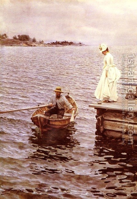 Sommarnoje by Anders Zorn - Reproduction Oil Painting