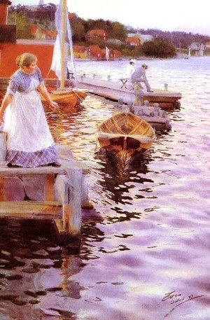 Reproduction oil paintings - Anders Zorn - Vigskvalp