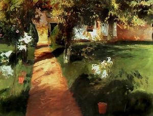 Realism painting reproductions: Garden