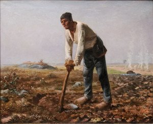 Jean-Francois Millet reproductions - Man With A Hoe