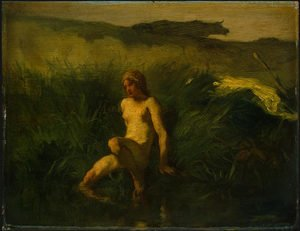 Realism painting reproductions: The Bather