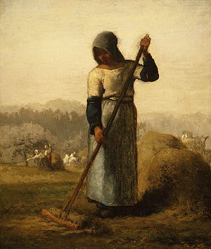 Realism painting reproductions: Woman With A Rake