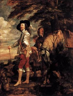 Reproduction oil paintings - Sir Anthony Van Dyck - Charles I- King of England at the Hunt 1635
