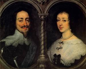 Reproduction oil paintings - Sir Anthony Van Dyck - Charles I Of England And Henrietta Of France