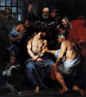 Reproduction oil paintings - Sir Anthony Van Dyck - Crowning with Thorns 1618-20