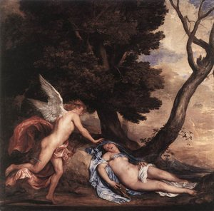 Sir Anthony Van Dyck reproductions - Cupid and Psyche 1639-40