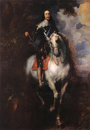 Sir Anthony Van Dyck reproductions - Equestrian Portrait of Charles I, King of England 1635-40