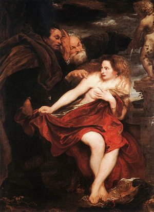 Reproduction oil paintings - Sir Anthony Van Dyck - Susanna and the Elders 1621-22