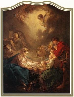 Rococo painting reproductions: Adoration of the Shepherds 1750