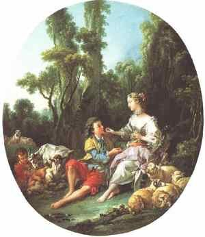 Famous paintings of Goats: Are They Thinking About the Grape, 1747