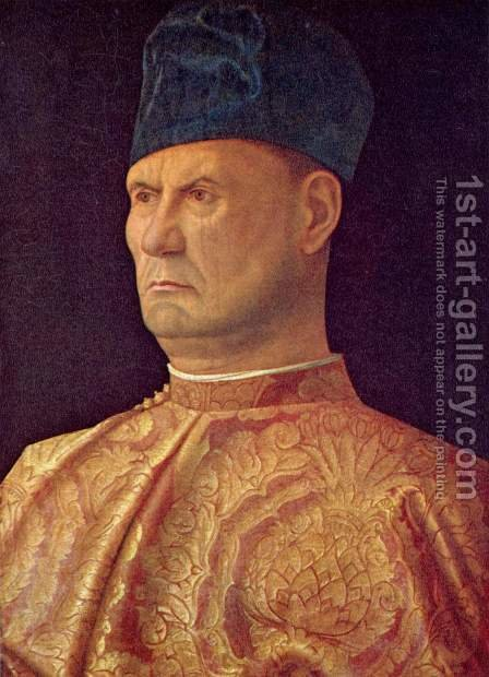 Portrait of a Condottiere (Jacopo Marcello) by Giovanni Bellini - Reproduction Oil Painting