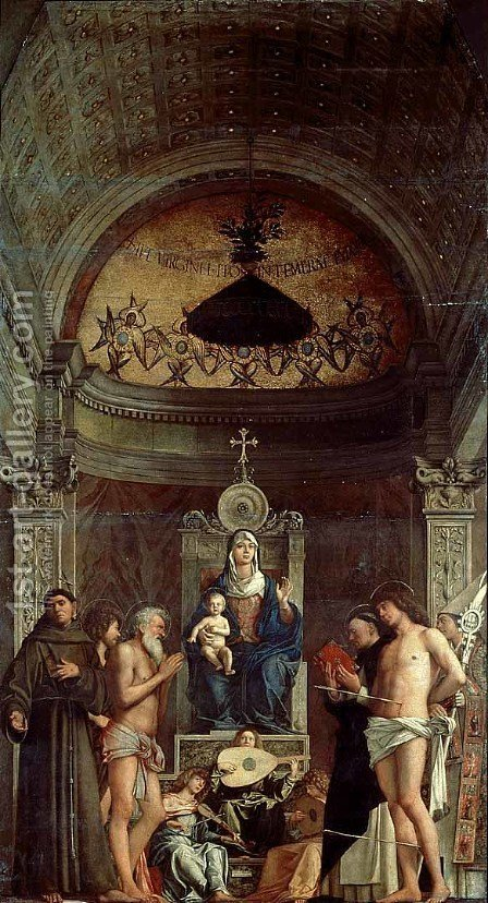 San Giobbe Altarpiece by Giovanni Bellini - Reproduction Oil Painting