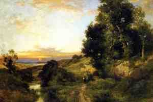 Reproduction oil paintings - Thomas Moran - A Late Afternoon In Summer